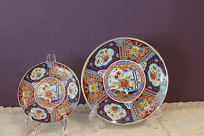 2 Tiered Imari Ware Plates (No Metal Stand) - Made In Japan