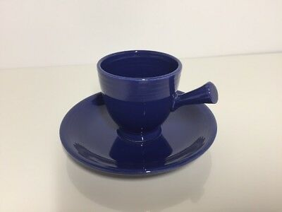 COBALT BLUE FIESTA Stick Handle Demitasse Cup & Saucer FIESTAWARE After Dinner