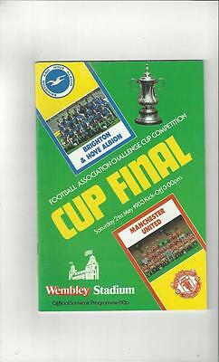 Brighton v Manchester United FA Cup Final 1983 Football Programme