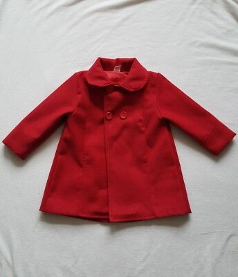 Girls red coat 18-24 months jacket