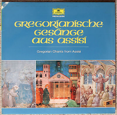 """Gregorian Chants from Assisi"" Deutsche Grammophon 2726 004 2xLP"