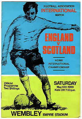 """England v Scotland Home International 1969"" Program"