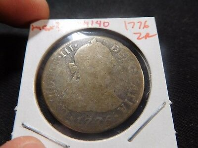 INV #Th140 Mexico 1776 2 Reales