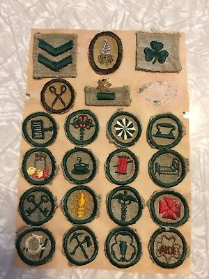 Vintage 1920's 1930's Girl Scout Patches rare lot merit badges