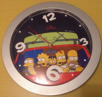 Simpsons Wall Clock Family In Car 2002