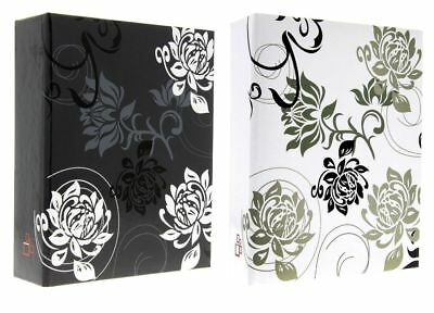 "Black White Beautiful Slip In Photo Album Set Of 2 x 200 6"" x 4"" Photos Gift"