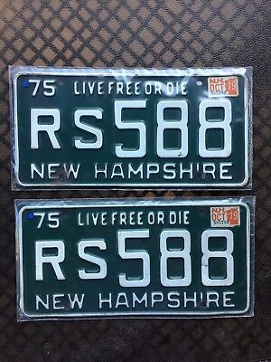 1979 New Hampshire License Plates Rs588