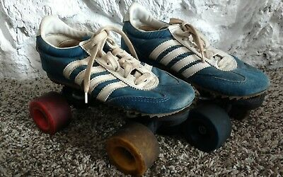 Vintage NBA Blue Roller Skates W/colorful wheels Size 5 1/2 Retro Funky Cool!