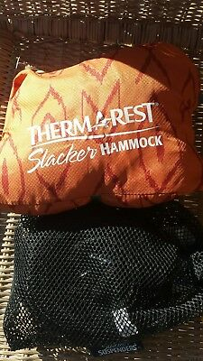 Therm-a-Rest Slacker Portable Camping Backpacking Hammock, Single - Orange