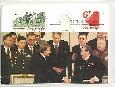 Nixon's visit commemorative postcard