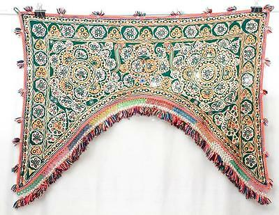 Old Fine Embroidery *special* Rabari Ethnic Door Valance Tribal Wall Decor Toran