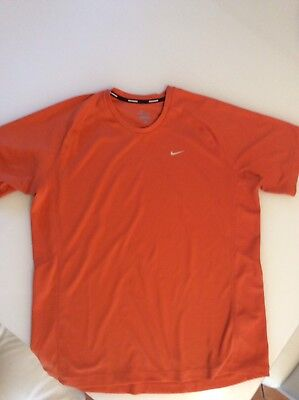 Mens Nike Dri-Fit Miler Running Top - Size Xl - Excellent Throughout