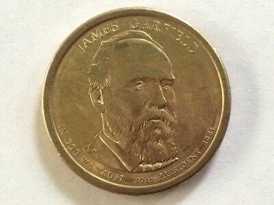 2011D James Garfield. US Presidential dollar coin.