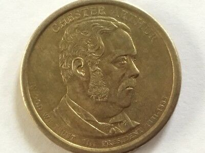 2012D Chester Arthur. US Presidential dollar coin.