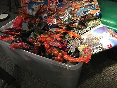 Mega Bloks Dragons Fire Storm Fortress 9887 Fire And Ice Building Blocks