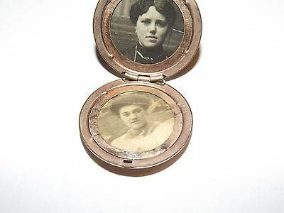 Antique Locket Nice photos 1874 RBM Atrice Victorian Paste Jewels Gold Filled