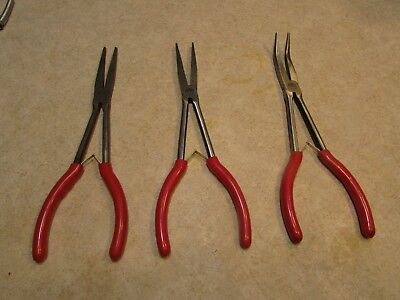 "Lot#7 Mac Tools P301733, P301735 & P301731 11"" Long Pliers Extra Nice Shape"