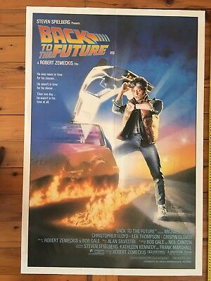 Back To The Future Original Full Sheet Poster 1985