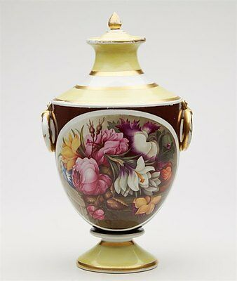 Antique Davenport Floral Twin Handled Vase Early 19Th C