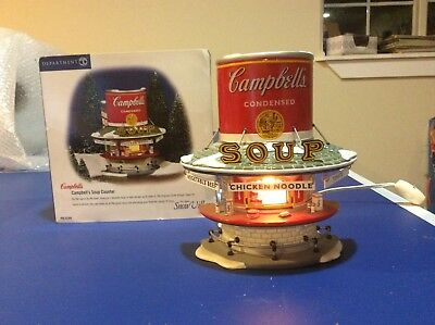 Dept 56 Campbell's Soup Counter #55309 Snow Village Christmas