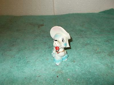 Vintage Hand Decorated White French Poodle Prissy Lady In Her Easter Bonnet