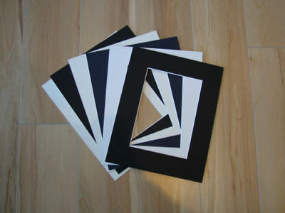 "6 x Professional Picture Framing Mat Boards 11"" x 14"" with A4 Photo Window"