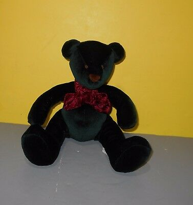 Russ Berrie Teddy Bear 4556 RAZZLES Dark Forest Green Plush Bears from the Past