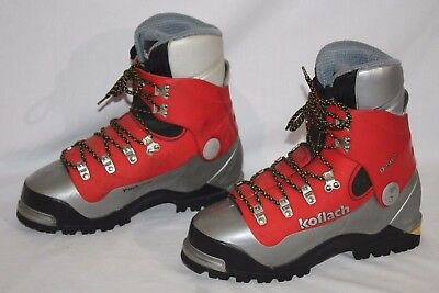 KOFLACH Degre Mountaineering / Climbing Boots, Mens US sz. 7.5 , Red / Gray