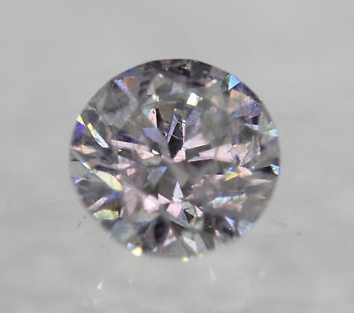Certified 0.71 Carat E SI2 Round Brilliant Enhanced Natural Diamond 5.6mm 3VG