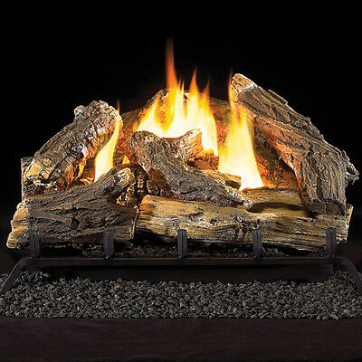 """Tupelo Vent Free Gas Logs with Remote - 18"""" - LP Gas"""