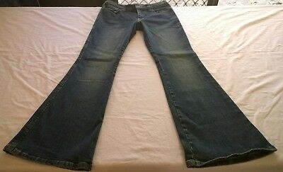 JUST JEANS women 10 small 12 blue low rise flare bootcut denim retro casual