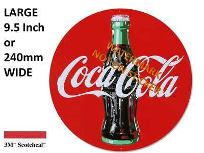 NEW COKE COCA COLA DECAL STICKER LARGE 9.4 inch or 240mm USA SCOTCHCAL