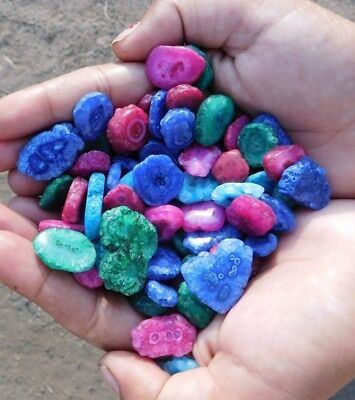 120.00 Cts Antique Finest Baby Solar Druzy Agate Mix Lot Loose Cab Gems