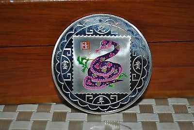 40mm Zodiac snake  alloy gold-plated commemorative coins
