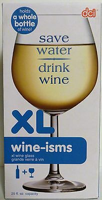 DCI Extra Large Wine Glass holds 25 oz - Wine-isms Holds A Whole Bottle O Wine 2
