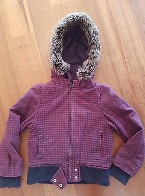 COUNTRY ROAD size 7 thick hooded jacket