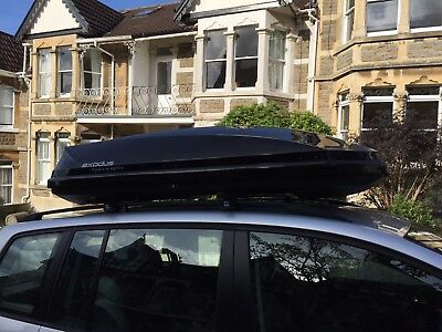 Exodus 580L Dual Opening Roof Box With Roof Bars