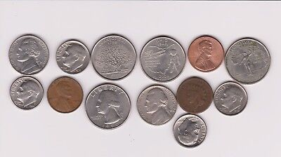 Very Nice Rare.mixed Lot Of U.s.a. Coins .very Collectable.g.252