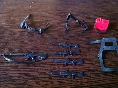 Vintage GI Joe Waffen,weapons,M-16 With Strap,Mortar,Rifles,Mörser