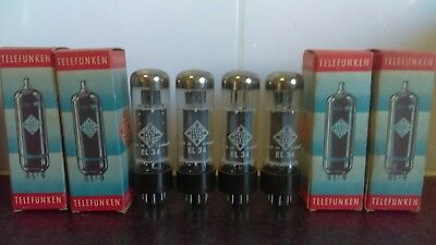 A Quad set of Telefunken EL34 TUBES