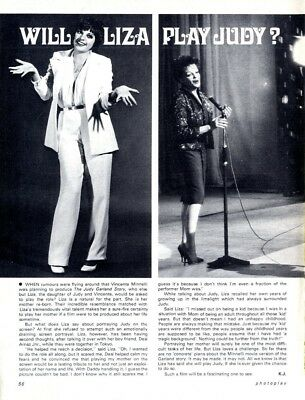 PP73/3p56 WILL LIZA MINNELLI PLAY JUDY GARLAND ARTICLE & PICTURE(S)