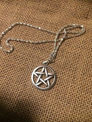 Pentacle Necklace Wicca Protection Pendant