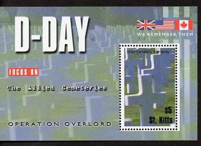 Sk Kitts MNH 2004 The 60th Anniversary of D-Day Landings M/S