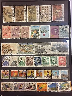 China-taiwan Mixed Used Stamps
