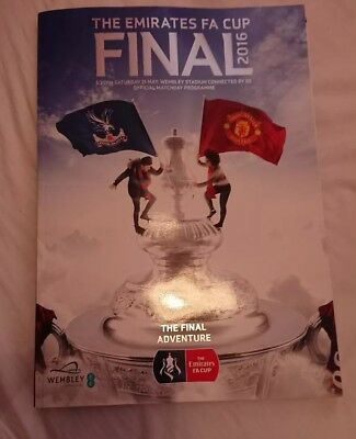 FA Cup Final programme 2016 Manchester United vs Crystal Palace