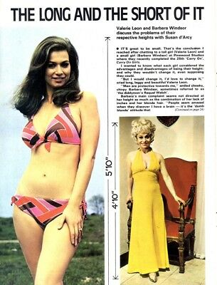 Pp73/9P08 Valerie Leon & Barbara Windsor, Long And Short Of It Article & Picture
