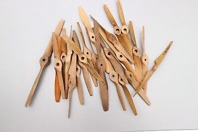 Vintage Wooden Control Line Speed Propellors - selection of 24 various sizes