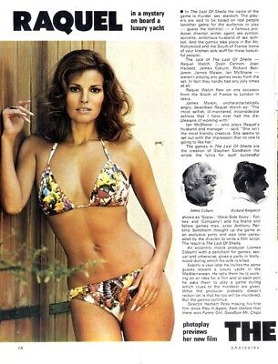 Pp73/9P16 Raquel Welch In The The Last Of Sheila Article & Picture(S)
