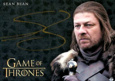 Game Of Thrones Valyrian Steel GOLD AUTOGRAPH card SEAN BEAN as NED STARK