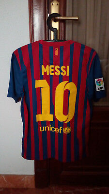 #10 MESSI, FC BARCELONA Official home shirt used in LFP 2011-12 season